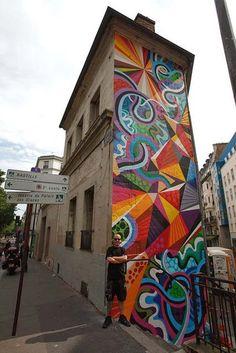 Mural by Matt W. Moore in Paris, France