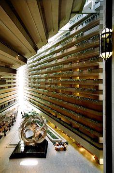 Hyatt Regency Hotel, San Francisco,  California by John Portman in 1972