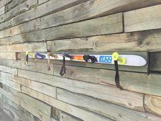 Items similar to Ski Coat Rack on Etsy Metal Wall Decor, Metal Wall Art, Elan Ski, St Anton, Shot Ski, Garage Organisation, Ski Decor, Ski Chalet, Skiing