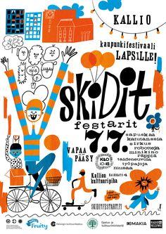 "Alumna Aino Heikkinen (MA) produces Kids Festival ""Skidit Festarit"" in Helsinki 7th July 2013. More http://www.skiditfestarit.fi/"