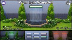 Mod The Sims - Wall Light Waterfall