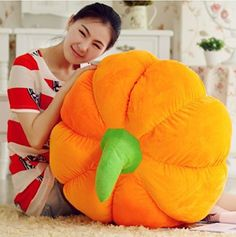 I need a giant pumpkin pillow!!!! #ad🎃🎃🎃🎃🎃🎃