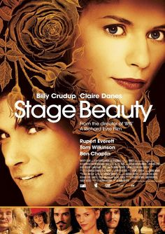 """""""Belleza Prohibida"""" / Stage Beauty (2004) inspired by Shakespeare's Othello with Claire Danes as Maria Hughes / Desdemona and Billy Crudup as Ned Kynaston / Othello #CostumeDesign:  Tim Hatley"""