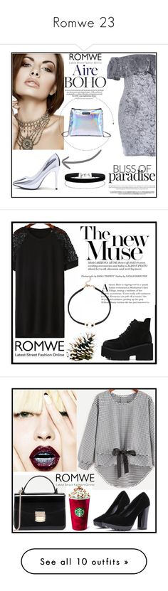 """""""Romwe 23"""" by amra-f ❤ liked on Polyvore featuring Miss Selfridge, romwe, Tiffany & Co., John Lewis, H&M, Anja, Tod's, Miguel Ases, Victoria's Secret and vintage"""