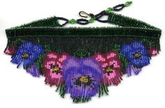 Beaded Pansy Fringe Necklace Pattern & Kit. (Click on the picture to see this item on our website). $17.95