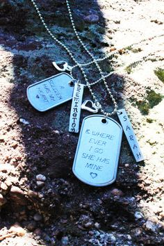Military, Firefighter, Policeman, etc... Necklace Set for couples! Only $25 for set!