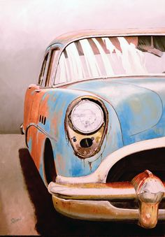 Buy Buick on Oil on Board by Philip Allen. Philip Allen is represented by I.D.E.A.Gallery.
