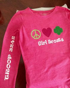 838cde6519b6 Image result for girl scout camping t shirt ideas Girl Scout Shirts, Girl  Scout Sash