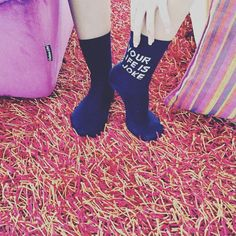 #women #socks with #lovely #logo !!! #yourlifeisajoke Women Socks, High Socks, Logo, Fashion, Moda, Thigh High Socks, Logos, Fashion Styles, Stockings