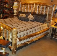Aspen Log Bed - Available in Queen & King