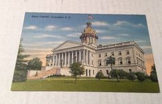 Vintage Unused Postcard of State Capitol Columbia South Carolina SC Unposted