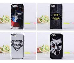 Superman Batman Captain America clown pattern Cover case for iphone 5 5S 6 6s #aginal