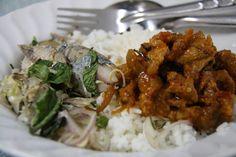 Así son los desayunos alrededor de todo el mundo-También en Tailandia toman pescado, pero este picante con sabor a menta, y cerdo agridulce servido con aroz.