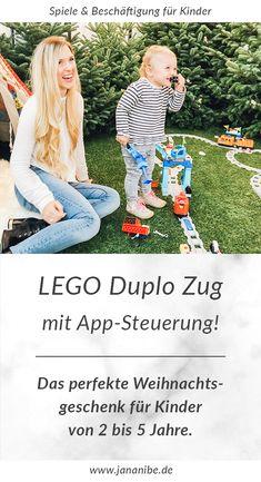 Neuer LEGO Duplo Zug mit App-Steuerung und Funktionssteinen – Weihnachtsgeschenk für Kinder 2 bis 5 Jahre – Spielen und Beschäftigen bei Regenwetter