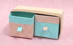牛乳パックで作る 小物入れ recyclage de briques de boissons