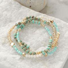 Diy Beaded Bracelets, Summer Bracelets, Gemstone Bracelets, Handmade Bracelets, Bracelet Set, Waist Jewelry, Turquoise Beads, Turquoise Bracelet, Bracelet Designs