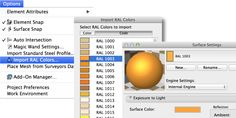 Met deze gratis add-on kun je snel de eenvoudig RAL kleuren importeren. Download 'Ral Colour System' hier: www.graphisoft.com/downloads/goodies/AC18/NED.html (tip: lees de Read Me). Kies Options > Import RAL Colors en maak een of meerdere keuzes en voeg ze toe.