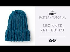 (189) How to Knit a Hat | Beginner Knitting Tutorial with Yarnspirations - YouTube Knitting Patterns Free, Knit Patterns, Free Knitting, Free Pattern, Knitting Videos, Knitting For Beginners, Knitting Needles, Knitted Hats, Needlework