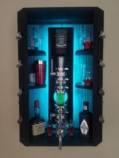 Diy Home Bar, Diy Bar, Bars For Home, Alcohol Storage, Liquor Storage, Alcohol Cabinet, Liquor Cabinet, Wood Burning Techniques, Bar Shed