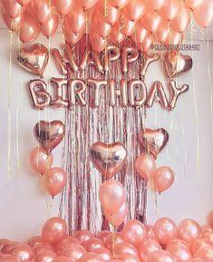 Happy Birthday Letter Balloons, Happy Birthday Decor, Birthday Decorations At Home, Gold Birthday Party, Birthday Parties, 18th Birthday Party Ideas For Girls, Zebra Birthday, Gold Decorations, Elegant Birthday Party
