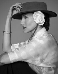 Sarah Jessica Parker Photos  Blouse, and pants, Yves Saint Laurent. Barneys New York; 888-8-BARNEYS. Hat, Lola Hats. lolahats.com. Bracelets, Le Vian. Jared the Galleria of Jewelry, Dulles, VA; 703-433-2305. #passion4hats