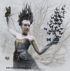 Black Butterfly Queen digital doodle 2014 Susanna Varis Photography: S. Varis, Ulf Holmén Model: Isa Lisa Dykhoff