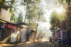 Morning stirs at sunrise in Palolem, Goa, India