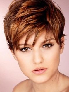 Funky short hair style @ Hair Color and Makeover Inspiration