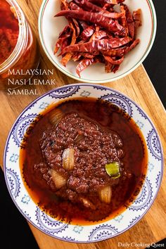 Stock up on this delicious sambal to go with your Malaysian nasi lemak, or we are quite obsessed with the sauce and use it with everything. Spicy Recipes, Indian Food Recipes, Asian Recipes, Cooking Recipes, Healthy Recipes, Asian Foods, Vietnamese Recipes, Nasi Lemak Sambal Recipe, Sambal Sauce Recipe