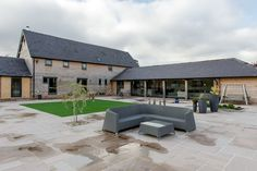 Barn Conversion by JDW Building and Conservation Barn Conversion Exterior, Barn House Conversion, Barn Conversions, Contemporary Kitchen Inspiration, Wooden House Design, Oak Frame House, Gym Room At Home, Pool Landscape Design, Best Barns