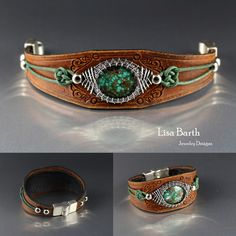 I'm trying out how big a stone I can put as a centerpiece. This one is the biggest I have done at 25 mm x 20 mm. The woven bezel always makes the stone look bigger. Just how wide can you make a bracelet and still make it comfortable?