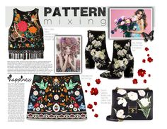 """pattern mixing//FLOWER POWER"" by perfectlydeathly ❤ liked on Polyvore featuring Designers Guild, Alice + Olivia, Miss Selfridge and Dolce&Gabbana"