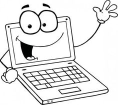 Computer Coloring Page Printable. | Colouring | Pinterest | Computer ...
