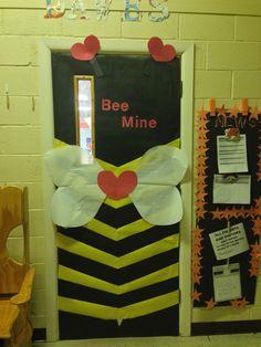 Valentines classroom door