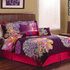 Flower Show Bedding Comforter Set, Purple - Walmart.com