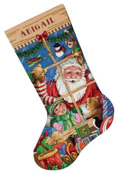 This page is dedicated to showcasing some of the most beautiful cross stitch Christmas stocking kits out there. Cross Stitch Christmas Stockings, Cross Stitch Stocking, Christmas Stocking Pattern, Xmas Stockings, Cross Stitch Love, Cross Stitch Needles, Counted Cross Stitch Kits, Cross Stitching, Cross Stitch Embroidery