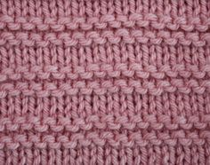 Garter Stripes ... STITCHES: knit, purl, edge stitch ... PATTERN: 6 rows ... STITCH NUMBER: any (I think) ... DIFFICULTY: easy