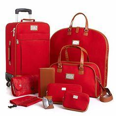 Joy Mangano St. Barts Canvas 10-piece Luggage Set