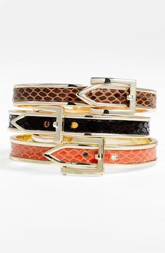 buckle bangles :: love these!