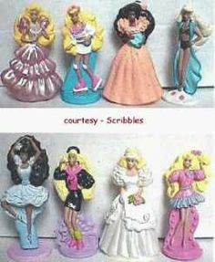 McDonald's barbie toys! omg i had everyone of these lol