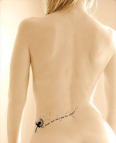 Dandelion tattoo idea
