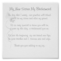 Bridesmaid Poem Print                                                                                                                                                                                 More