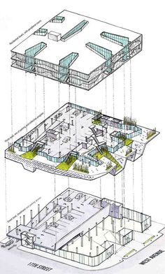 Building by ltl architects architecture drawings pintere System Architecture Diagram, Software Architecture Diagram, Architecture Blueprints, Architecture Design, Architecture Program, Conceptual Architecture, Library Architecture, Architecture Graphics, Architecture Drawings