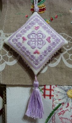 Whitework Embroidery: Hardanger Ornament Stitched by YY