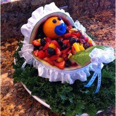 Baby shower watermelon fruit salad