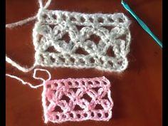 Como hacer Punto Flor en Crochet (variación punto alto cuádruple y cadenetas) - YouTube
