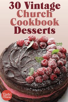 Vintage Stuff 30 Vintage Church Cookbook Desserts - Step into the pages of an old church cookbook and you'll find cherished desserts like these. Potluck Recipes, Cookbook Recipes, Baking Recipes, Holiday Recipes, Cake Recipes, Dessert Recipes, Retro Recipes, Vintage Recipes, Healthy Sweet Snacks