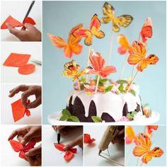 Creative Ideas - DIY Pretty Crepe Paper Butterflies | iCreativeIdeas.com Follow Us on Facebook --> https://www.facebook.com/iCreativeIdeas