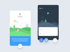 Flutter intro screens (photography app)