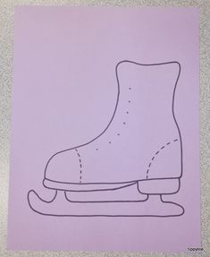 Ice skate craft template decorated their skate with winter crafts for kids, preschool winter, Winter Art, Winter Theme, Winter Crafts For Kids, Art For Kids, Preschool Winter, Toddler Crafts, Preschool Activities, Kids Ice Skates, Couple Crafts